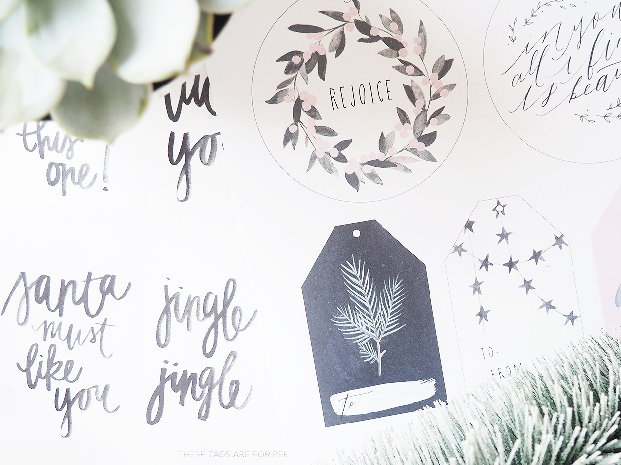 Free Printable Christmas Festive Holiday Gift Tags